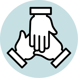 three-hands-together-icon
